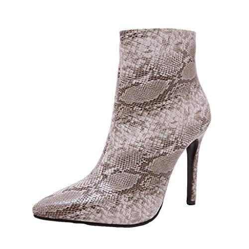 QUICKLYLY Botas de Mujer,Botines para Adulto,Zapatos...