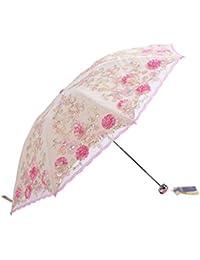 Nuevo paraguas bordado paraguas fuerte defensa ultravioleta paraguas doble capa de encaje bordado paraguas dom (