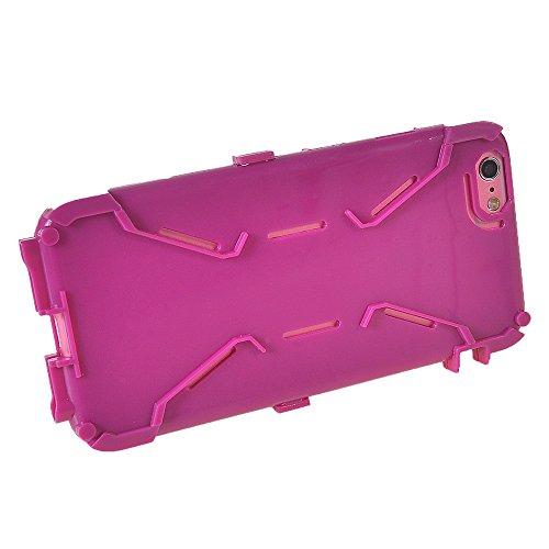 iPhone 6 6S h¨¹lle,COOLKE [Light Blau] Sto?fest Doppelschutz Duty Schutzh¨¹lle mit St?nder Cover Case f¨¹r Apple iPhone 6 6S (4.7 inch) Purple
