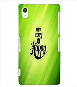 PrintDhaba Quote D-2682 Back Case Cover for SONY XPERIA Z3 (Multi-Coloured)
