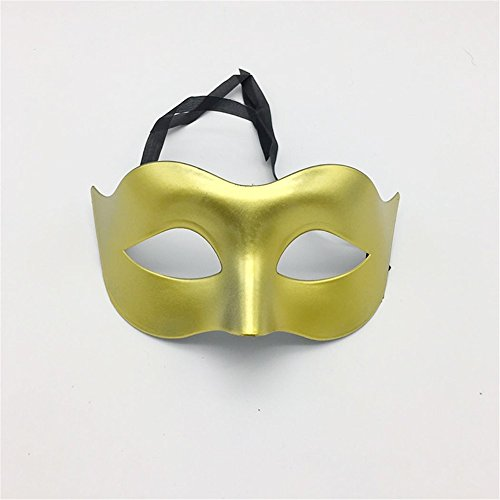 Maskerade,Glamour Männer Masken Halloween Kostüme Tänze Masken Damen einfarbig minimalistisch Halbgesicht Zorro Maske Maske Gold Masquerade