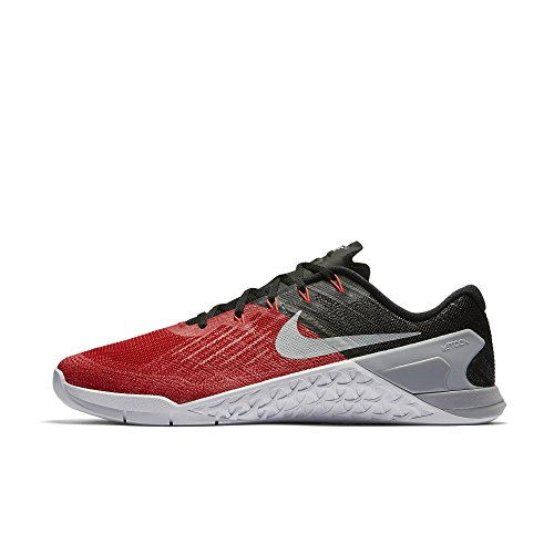 Nike Metcon 3, Chaussures de Gymnastique Homme University Red/Black/White/Wolf Grey
