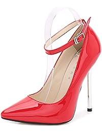 Jqdyl Modelo de tacón Alto de tacón Alto de tacón Alto de Gran tamaño señaló Zapatos únicos Femeninos,38