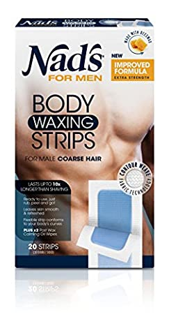 Nad's For Men Body Wax Strips 20's