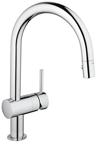 Preisvergleich Produktbild GROHE Minta Küchenarmatur, Schwenkbereich 360°, herausziehbare Spülbrause, C-Auslauf 32321000