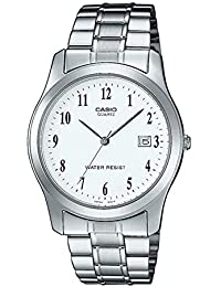 Casio Collection LTP-1141PA-7BEF, Reloj Redondo, Acero Inoxidable,  Mujer, Plateado