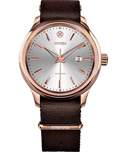 Jowissa Tiro Swiss J4.245.L - Reloj de Pulsera para Hombre, Color Plateado, marrón y Rosa