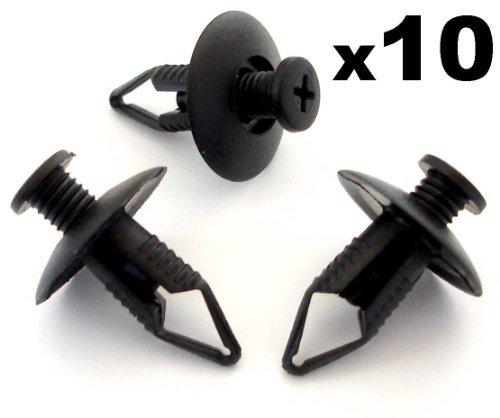 10 x Clips Agrafe Plastique 8mm Bouclier / Garnissages / Habillages / Joint de Capot / Passage de Roues - Pour Honda / Mazda / Nissan / Ford - 91502SM4000 - LIVRAISON GRATUITE!