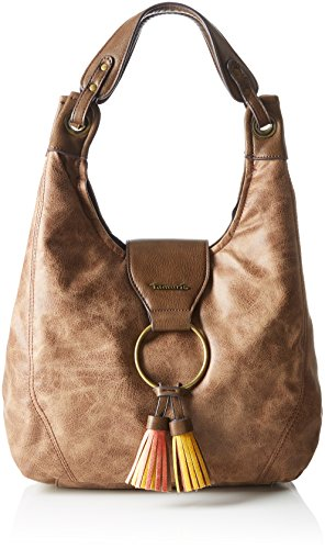 Tamaris-Damen-Bianca-Shoulder-Bag-Schultertasche-Braun-Brown-Comb-11-x-24-x-23-cm