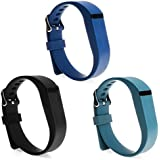 SnowCinda 3PCS Adjustable Replacement Silicone Wristbands with Clasps for Fitbit Flex Wireless Activity Tracker Bands
