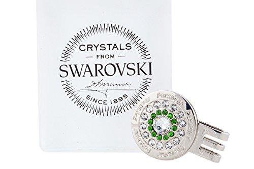 Parsaver Swarovski-Kristall-Golf-Ball-Marker - Bullseye ich entwerfe Augusta Clear - Green