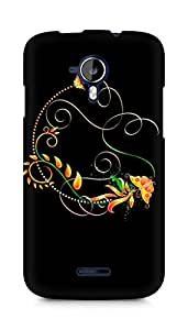 Amez designer printed 3d premium high quality back case cover for Micromax Canvas Magnus A117 (Abstract Dark 32)
