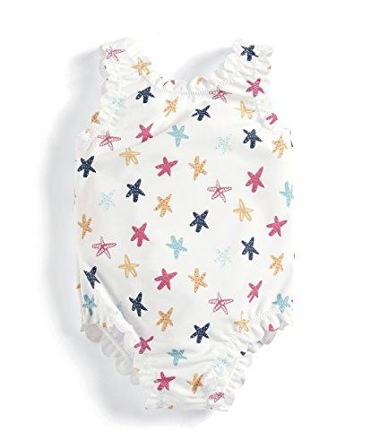 Mamas & Papas Starfish Print Swimsuit, Maillot Une Pièce Bébé Fille, Multicolore (Starfish Print S93MGI3C7), 3-4 Ans