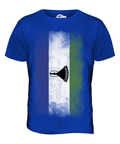 CandyMix Lesotho Verblichen Flagge Herren T Shirt Königsblau