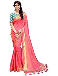 4a57fea1280761 Monjolika Fashion Women s Silk Saree With Blouse Piece (30684 Coral Pink)