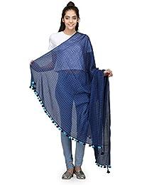 The Weave Traveller Handloom Hand Woven Muslin Cotton Dupatta For Women/Girl's