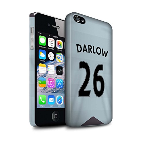Offiziell Newcastle United FC Hülle / Matte Snap-On Case für Apple iPhone 4/4S / Tioté Muster / NUFC Trikot Away 15/16 Kollektion Darlow