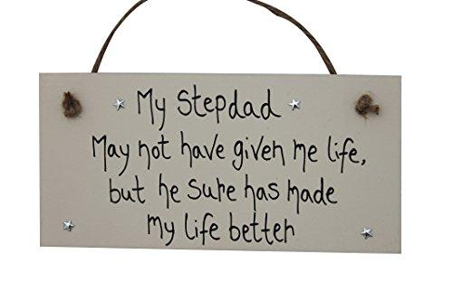 madeat94passo papà regalo personalizzato in legno targa 'My Stepdad ha mia vita migliore