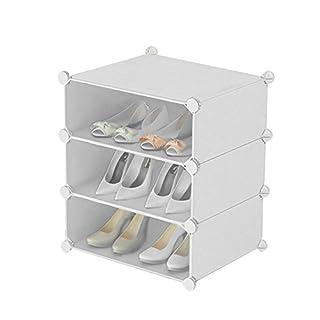 Inxact Shoe Rack Storage Solution Diy 3-6 Tier, White (3-tier)