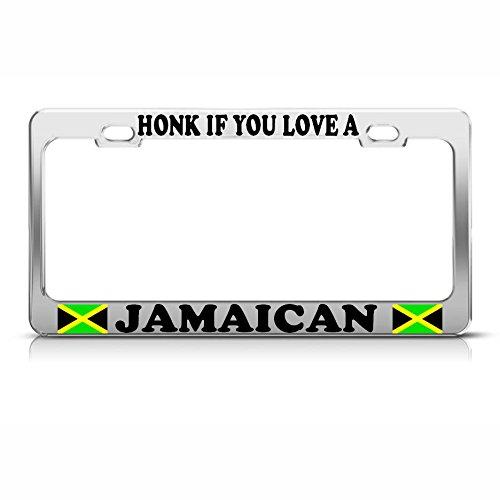 HONK IF You Love A Jamaika-Flagge, Metall, ideal für Männer, Frauen, Auto-Garadge Dekor -