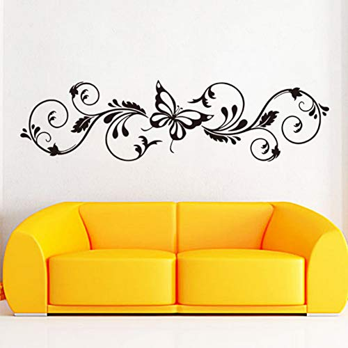 Yzybz Art Design Home Decoration Swallow Blumen Wandaufkleber Removable House Decor Schöne ()
