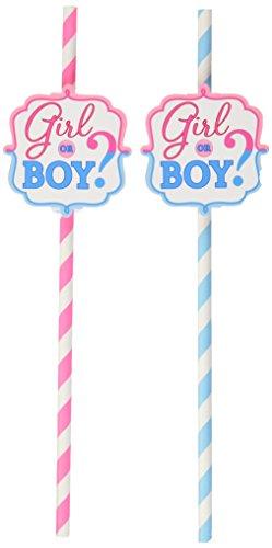 401573Trinkhalme Mädchen oder Jungen (Gender Reveal Party Supplies)