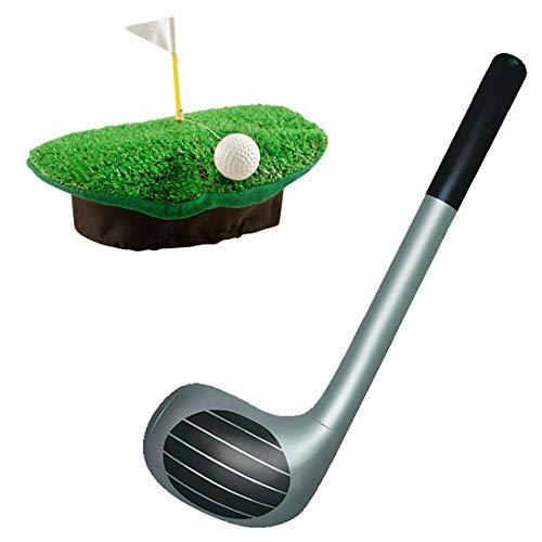 Islander Fashions Pub Golf Golfer Golfhut und Golf Club Kost�m Hen Stag Night Zubeh�r (Golfhut + Gold Club Set) Einheitsgr��e