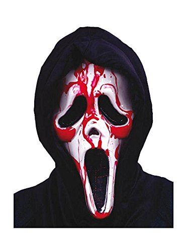 Blutende Scream Ghost Face Maske Halloween Horror Verkleidung (Scream Blutende Kostüm)