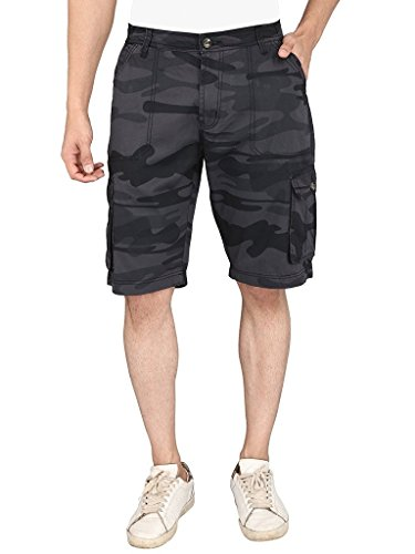 Krystle Men's Camo/Army Printed Cargo Shorts-32