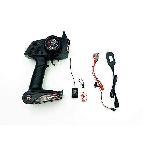 2.4G AX5S Fernbedienung + ESC + USB-Aufladung + GT2-Empfänger, Elektronische Ausrüstung Upgrade Teilesatz für WPL KIT B36 C24 B16 B14 B24 RC Auto - Empfänger Elektronische