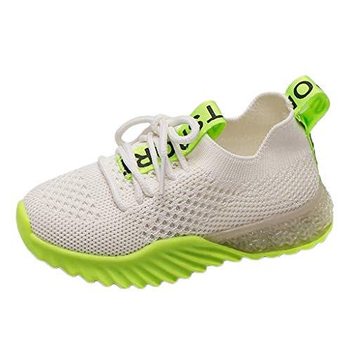 Riou LED Leuchtschuhe Kinder Junge Mädchen Blinkende Sneaker mit Licht Weiche Sohle Mesh Atmungsaktiv Sportschuhe Turnschuh Kinderschuhe - Herren-stretch-walker