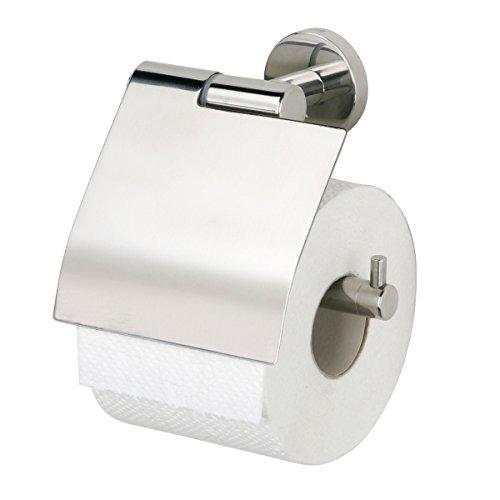 Tiger 309130300 Boston Toilettenpapierhalter mit Deckel, Edelstahl poliert
