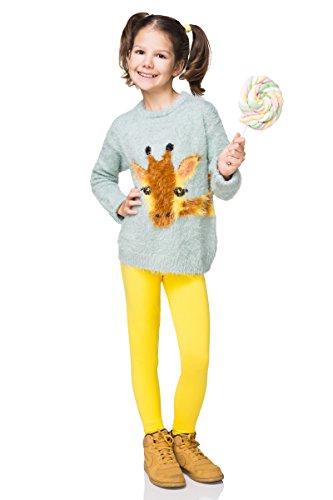Leggings de Invierno para niños - Cálidos, Gruesos y Transpirables - Amarillo - Talla 8-9 años