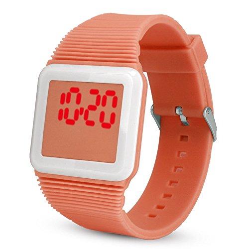 NEEKY Herren Armbanduhr,Sportuhren,Für Unisex Fitness Uhren - Elektronische Digital LED Silikon Uhr Armband für Kinder Smartwatch