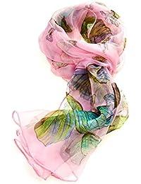 Damen-Chiffon-Schal aus 100/% reiner Seide mit Schmetterlingsmuster