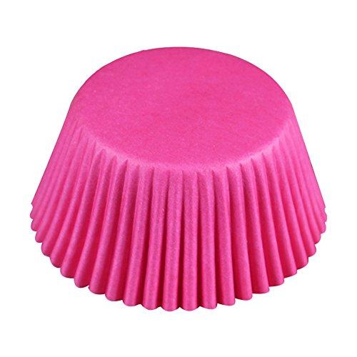 Leisial 100 Stücke Backpapier Öl-Beweis Muffin Papierförmchen Cupcakes Muffinförmchen Papier Backförmchen Muffinförmchen Papier-förmchen 6.8 * 3.2 * 5CM Rose Rot (Rose Papier-backförmchen)