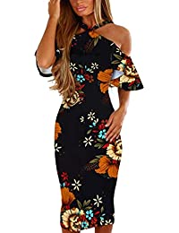 8369a9877a8 DAYLIN Newest Women Lady Daily Bohemia Printing Cross Off Shoulder Evening  Party Beach Dress Sundress Blue