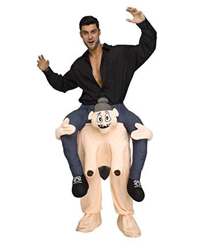 Nackte Oma Huckepack Kostüm für Fasching One (Den Auf Schultern Tragen Sitzen Kostüm)