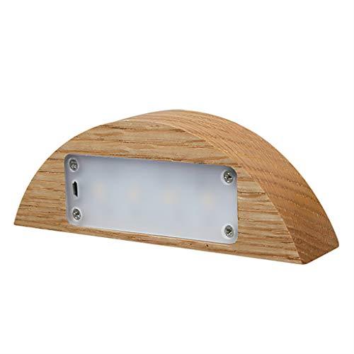 Toolmore H?lzerne Led Nacht Licht Batterie 1100 Mah Wiederaufladbare Presse Dimmbare Halb Mond Licht Tisch Lampe Dekor Atmosphaere Usb Nacht Lampe -