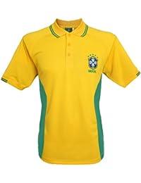 Polo supporter - Equipe du BRESIL de football - Collection officielle - SELECAO - Taille adulte homme