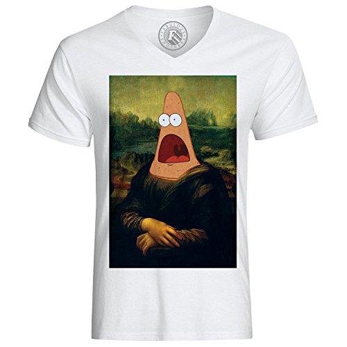 T-shirt patrick mona lisa bob l eponge da vinci