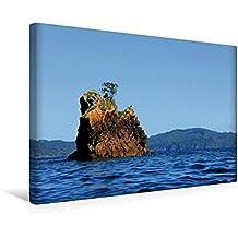 Premium Textil-Leinwand 45 cm x 30 cm quer, Felsformation in der Mercury Bay   Wandbild, Bild auf Keilrahmen, Fertigbild auf echter Leinwand, ... vor der Coromandel Peninsula (CALVENDO Natur)