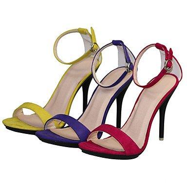 CH&TOU Da donna-Sandali-Formale / Casual / Serata e festa-Cinturino-A stiletto-Tessuto-Nero / Blu / Giallo / Verde / Viola / Rosso / Grigio / purple