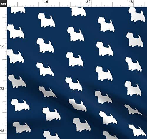 Westie, West, Weiß, Terrier, Hund, Scottie Stoffe - Individuell Bedruckt von Spoonflower - Design von Altrincham Gedruckt auf Satin -