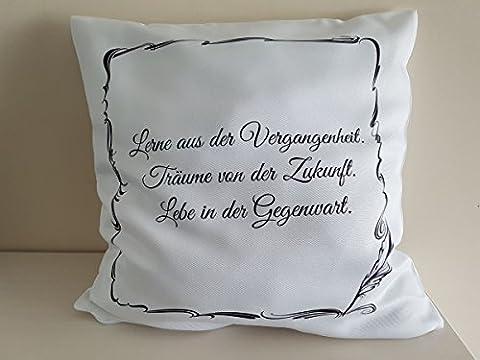 geschenkedirekt Kissen 40 x 40 cm mit Aufdruck Spruch - Bedrucktes Kissen Dekokissen Kuschelkissen, Motiv:Motiv 03