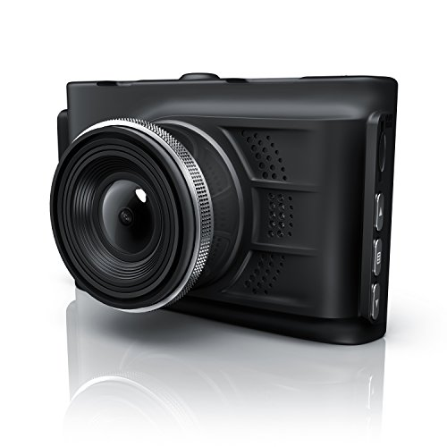 CSL - Autokamera in Full HD   HD Dashcam mit 150° Weitwinkelobjektiv   Videokamera fürs Auto   Loop Recording   G-Sensor   Fotomodus   Bewegungserkennung (Parkmodus)   Full HD 1080p