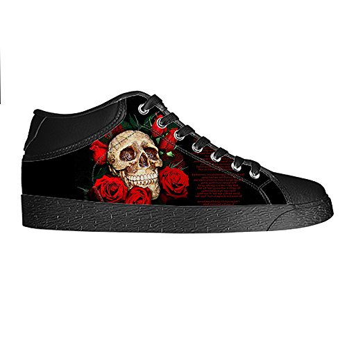 Dalliy Cool Skull Men's Canvas shoes Schuhe Lace-up High-top Sneakers Segeltuchschuhe Leinwand-Schuh-Turnschuhe A