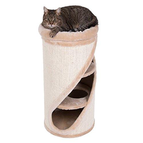 El barril de rayado diagonal básico Diogenes es un llamativo con su inusual, abertura inclinada. El barril de gato está completamente cubierto en sisal, por lo que hay un montón de espacio para que tu gato disfrute de su manicura diaria. Las densa in...