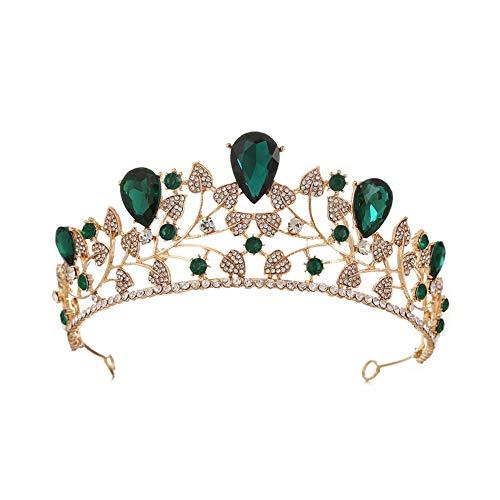 Y.L Master Bridal Hochzeit Haarnadel Haarschmuck Vintage Crystal Braut Krone Kopfschmuck Accessoires ()