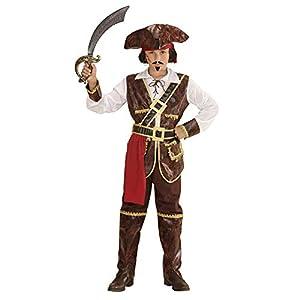 Widmann 73037-Disfraz para niños Pirate of Coconut Beach, camiseta, chaleco, cinturón, aqyaa03000, pantalones, überziehstiefel y sombrero, color marrón, tamaño 140 , Modelos/colores Surtidos, 1 Unidad